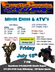 Motor Cross & ATV - Friday, July 15th